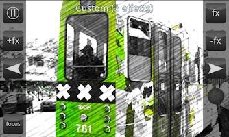 Screenshot of Live FX Camera effects