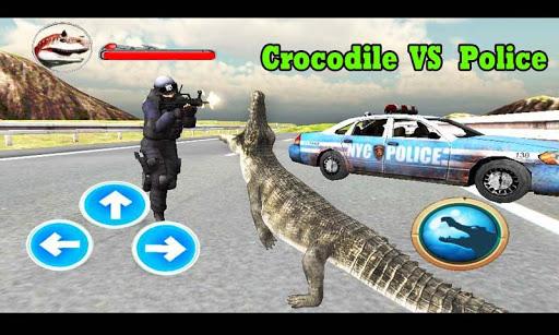 鱷魚攻擊警察3D模擬器