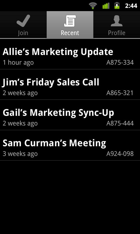 IBM SmartCloud Meetings - screenshot