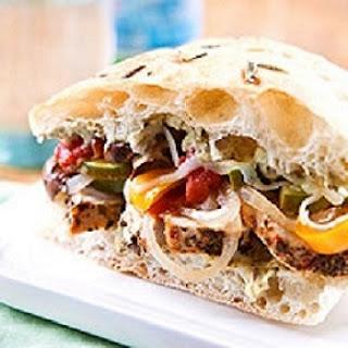 Slow Cooker Italian Chicken Sandwiches.