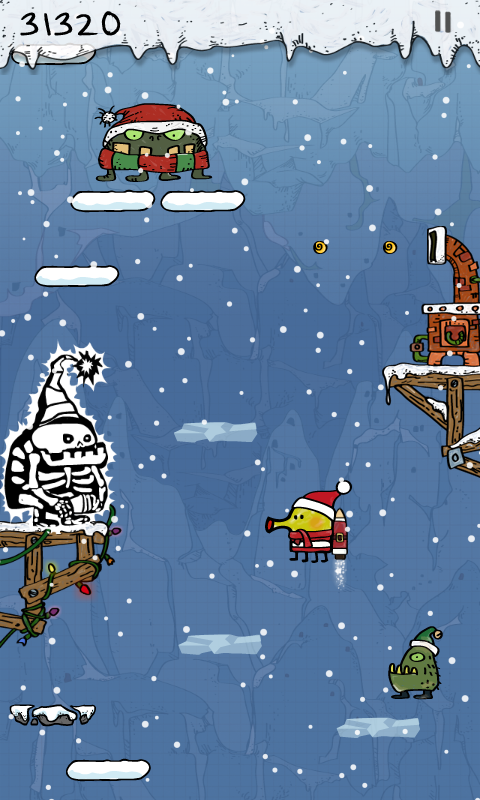 Doodle Jump Christmas Special - screenshot