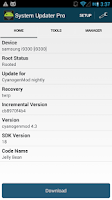 Screenshot of System Updater (ROM Download)