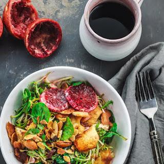 Easy Frisee Spinach Salad with Blood Orange Vinaigrette