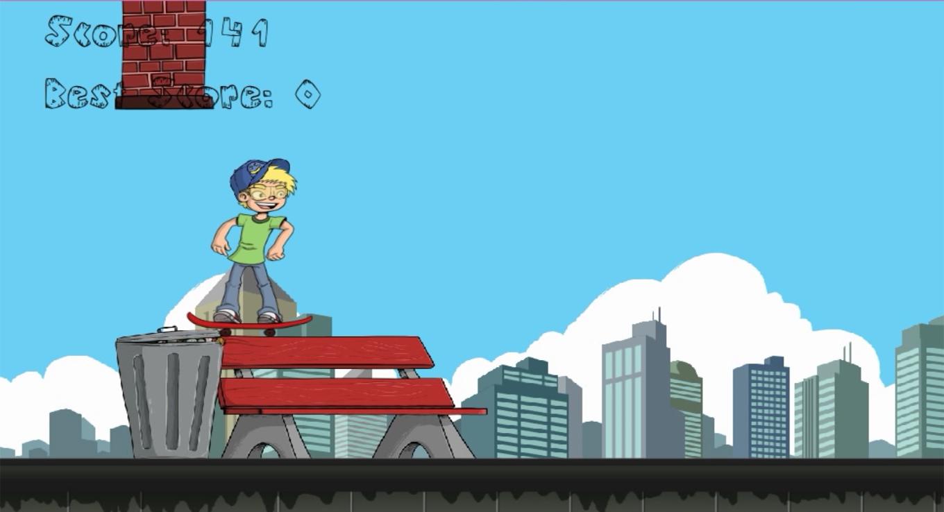 Jumpy Skater - Skateboard Boy- screenshot