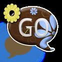 GO SMS THEME/BlueYellowFlowers icon