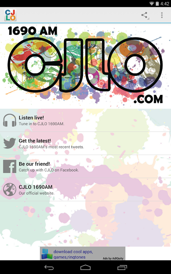 CJLO 1690AM for Android- स्क्रीनशॉट