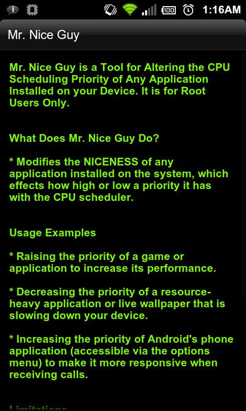 Mr. Nice Guy - App Prioritizer - screenshot