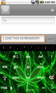 Pot Leaf Keyboard FREE! - screenshot thumbnail
