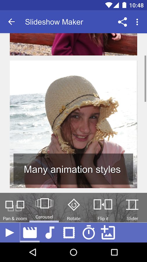 how to send slideshow from android