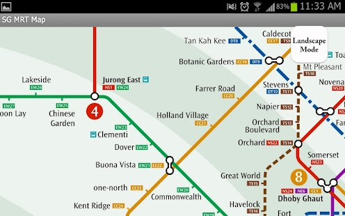 Singapore MRT Map- screenshot thumbnail