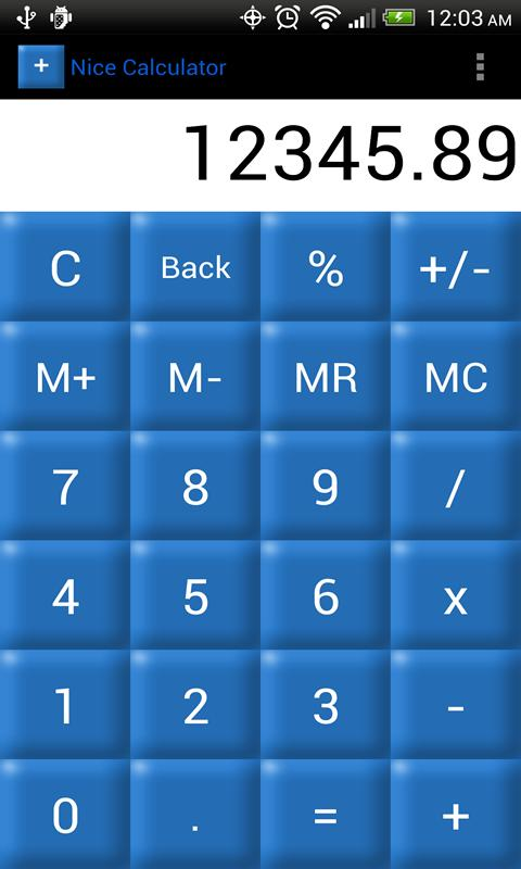 Nice Calculator- screenshot