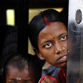 Traveller - 02 by Mriganka Sekhar Halder - People Portraits of Women