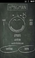 Screenshot of Hangman for Spanish learners
