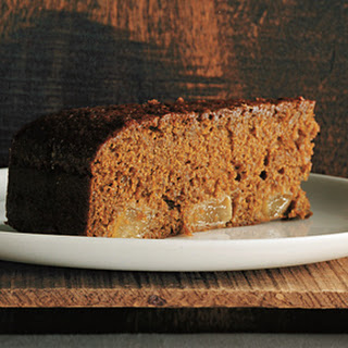 Dark Gingerbread Pear Cake.