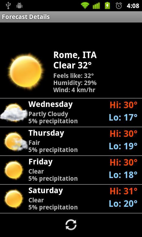 Football Digital Weather Clock- screenshot