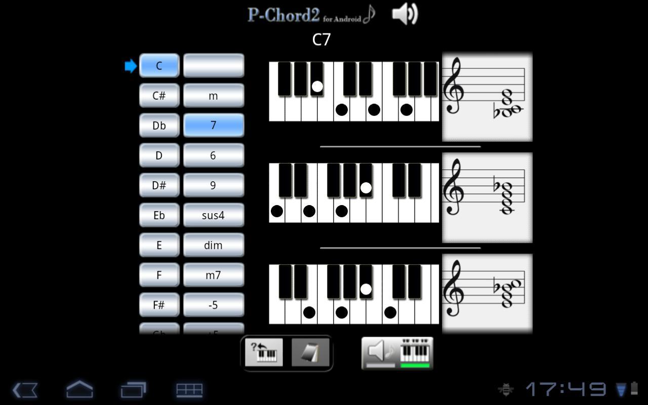 PChord2  (Piano Chord Finder)- screenshot