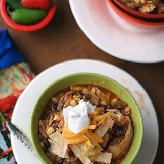 Healthier Slow Cooker Chicken Tortilla Soup