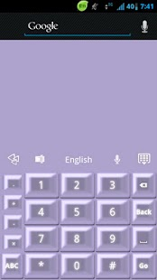 GO Keyboard Purple Pearl - screenshot thumbnail