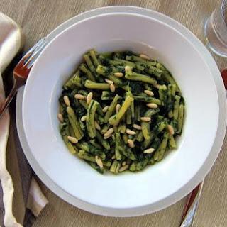 Pressure Cooker Pasta with Spinach Pesto.