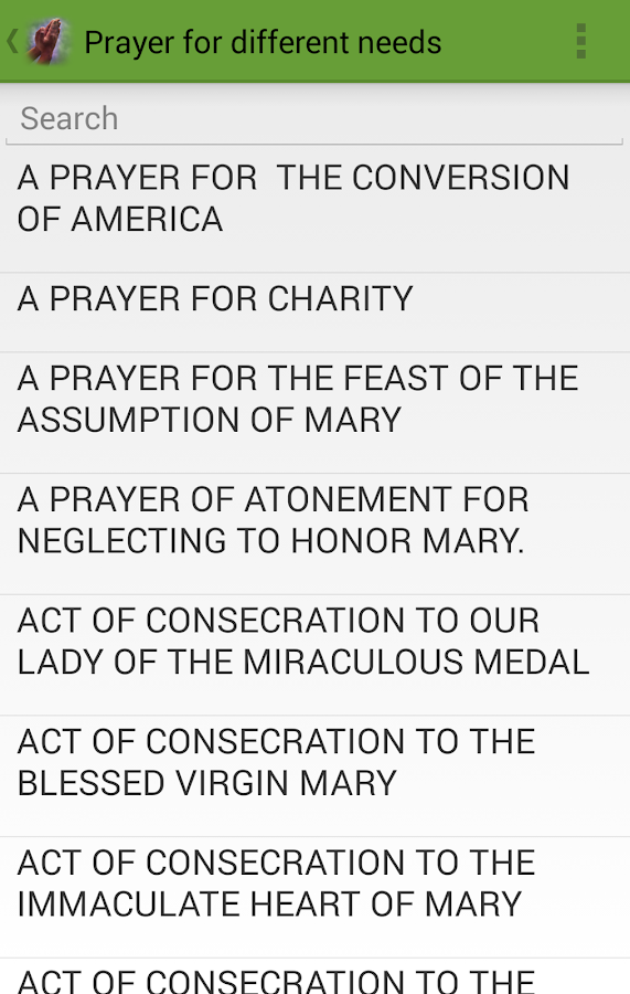 Catholic Prayer- screenshot