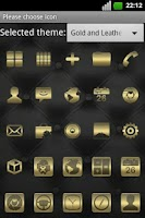 Screenshot of Gold and Leather GO EX Theme
