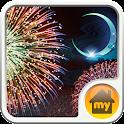 Moonlit fireworks Theme icon