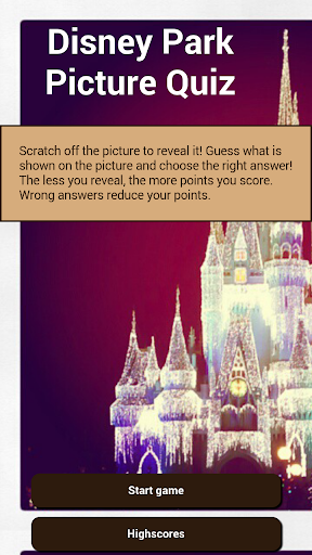 Disney Park Picture Quiz