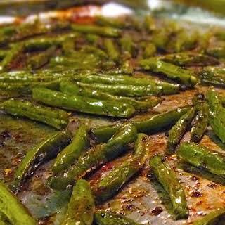 Balsamic Oven-Roasted Green Beans.