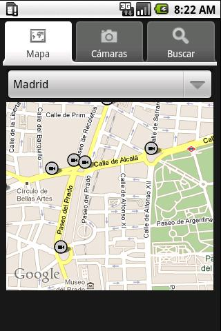Traffic Cameras in Spain - screenshot
