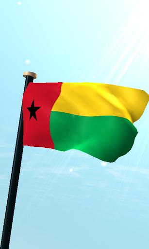 几内亚比绍旗3D免费动态壁纸