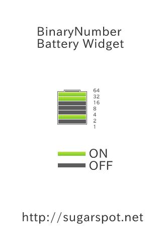 BinaryNumber Battery Widget- screenshot