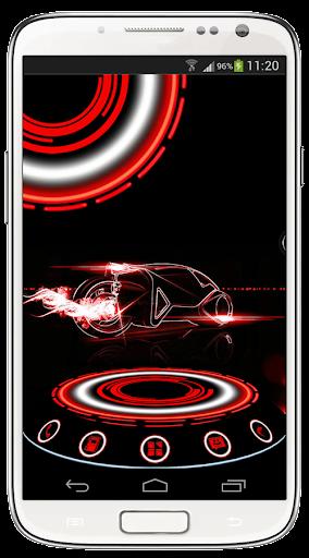 Next Launcher Theme Cytron Red