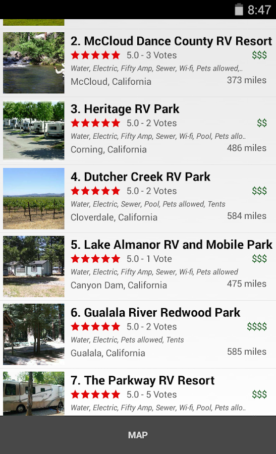 RV Parks & Campgrounds- screenshot