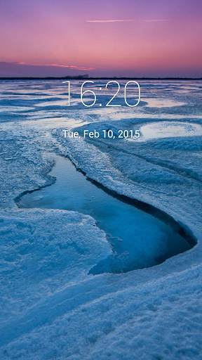 Frozen Nature Lock Screen