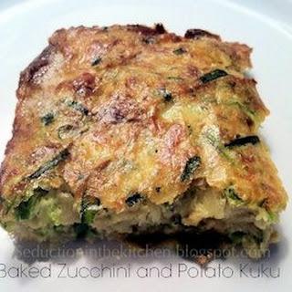 Baked Zucchini and Potato Kuku