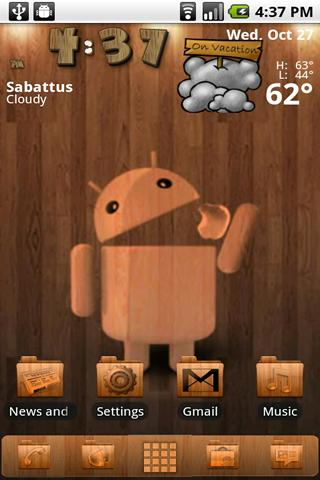 Wood ADW Theme - screenshot