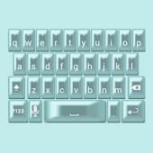 Aqua Pearl Keyboard Skin