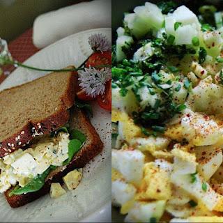 Caesar and Caper Kissed Egg Salad.