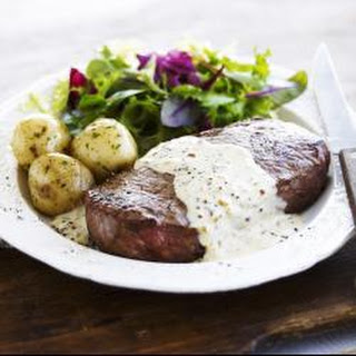 Sirloin Steak with Brandy Mustard and Clotted Cream Sauce Recipe