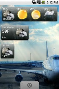 Snowstorm weather widget - screenshot thumbnail