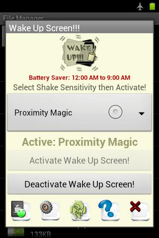 Wake Up Screen