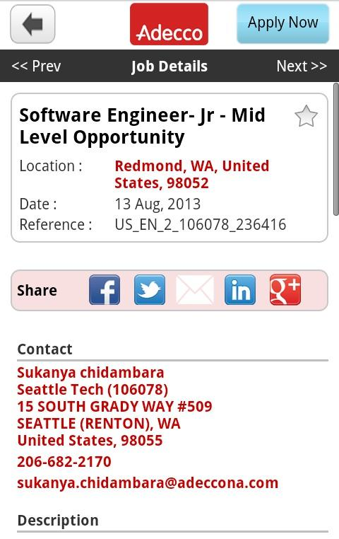 Adecco Jobs - screenshot