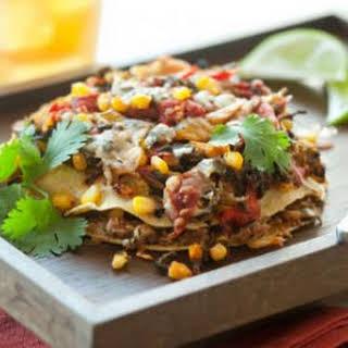 Layered Vegetable Enchiladas.