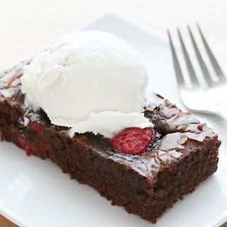 Chocolate Raspberry Brownies {gluten free and traditional recipes}.