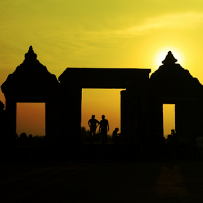 Temple gate by Asep Dedo - Landscapes Travel