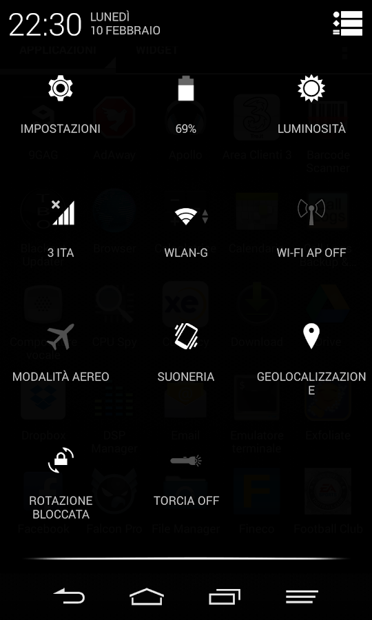 Black Infinitum Theme - Free - screenshot