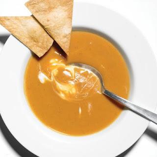 Sweet Potato and Chipotle Soup.