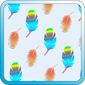 Cute Feathers Fashion Patterns icon