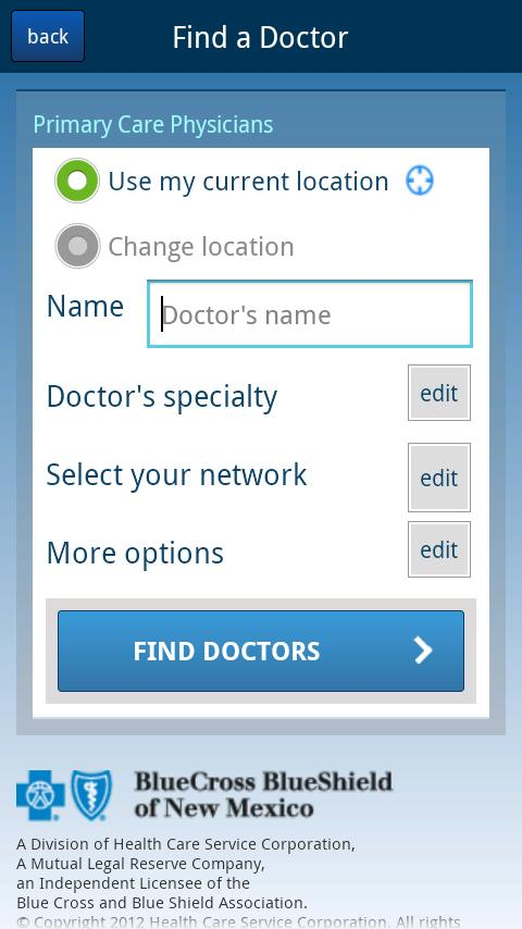 Find Doctors - New Mexico - screenshot