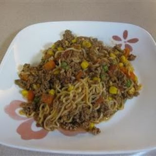 Ground Beef Curly Noodle.